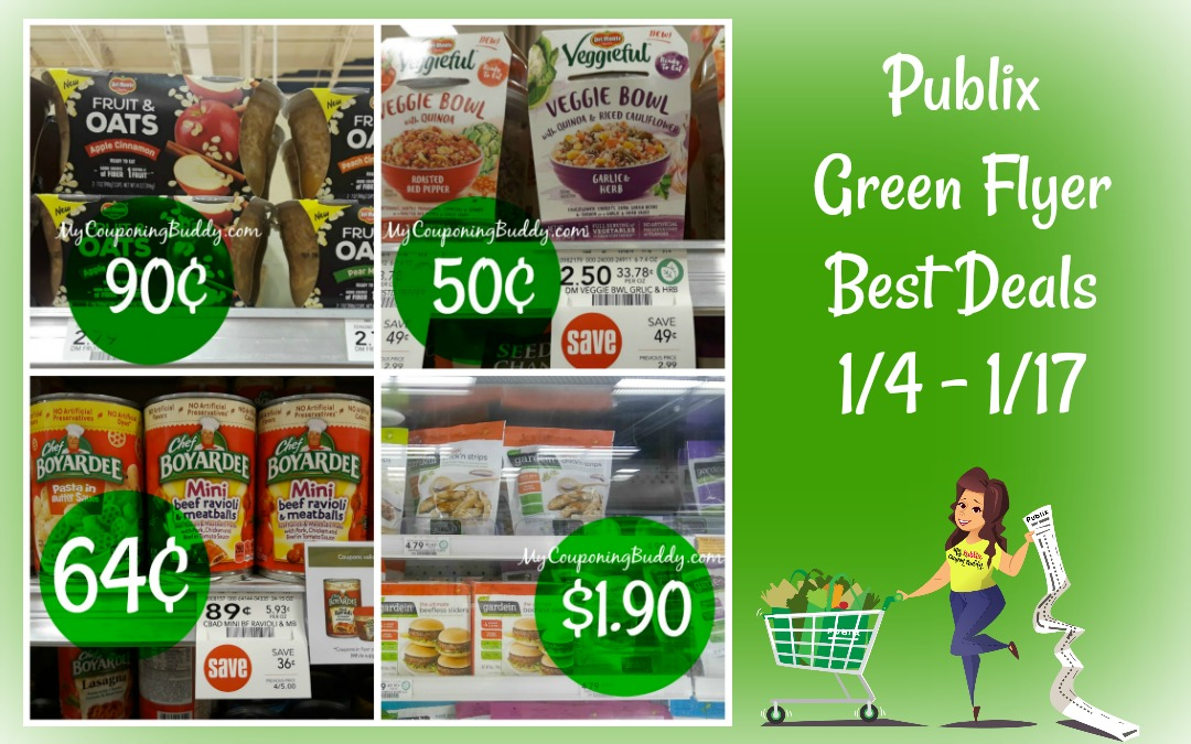 Publix Green Flyer Best Deals 1/4 – 1/17