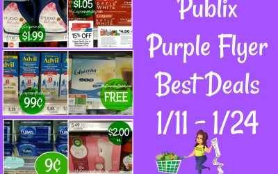 Publix Purple Flyer Best Deals 1-11 to 1-24