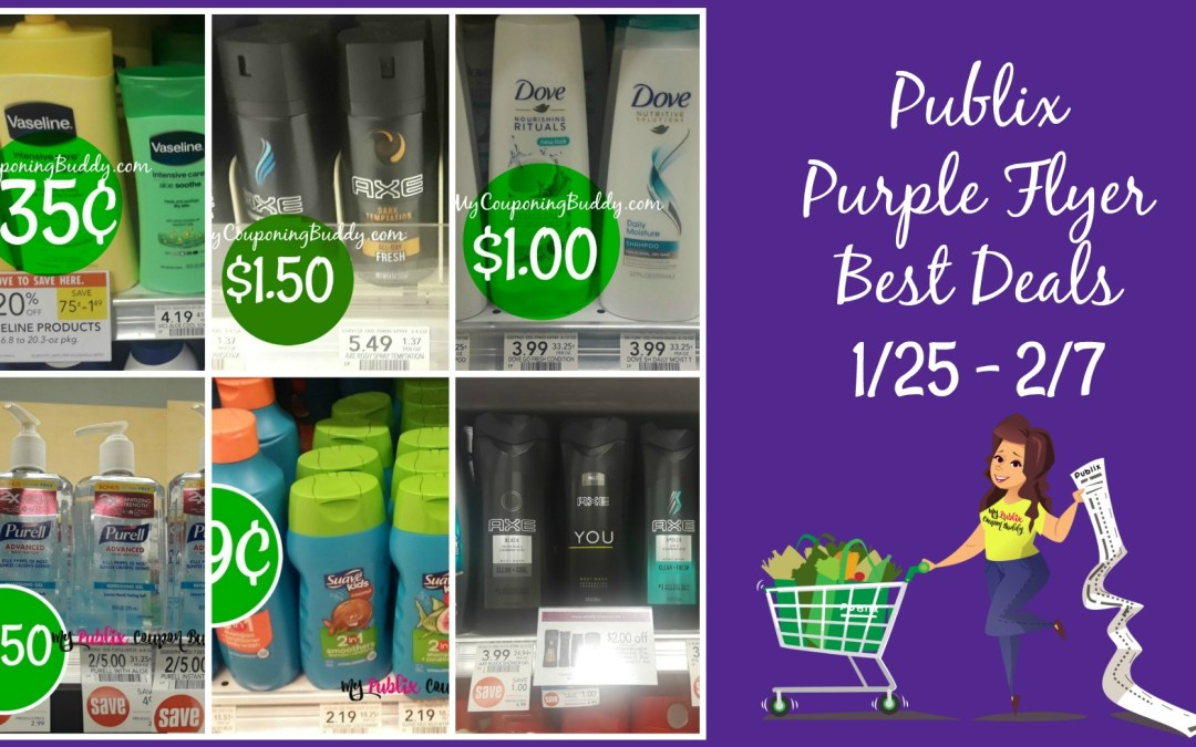 Publix Purple Flyer Best Deals 1/25