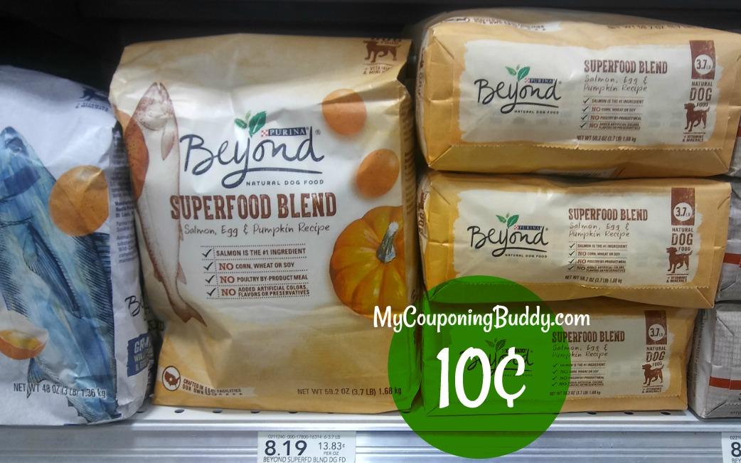 Purina Beyond Dog Food 10¢ at Publix