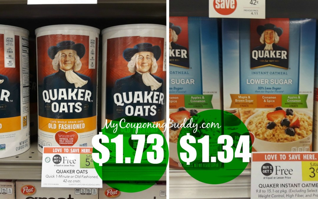 Quaker Couponing Deals at Publix