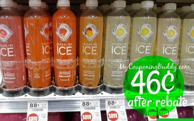 Sparkling Ice 46¢ after New Sip to Savings Publix Rebate