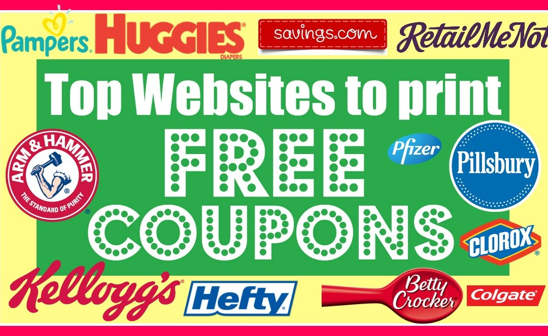 Top Websites to print FREE coupons