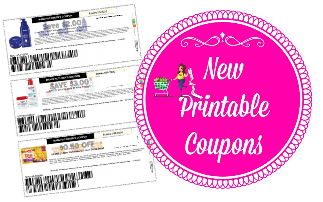 New Printable Coupons ~ Nivea, Eucerin and more