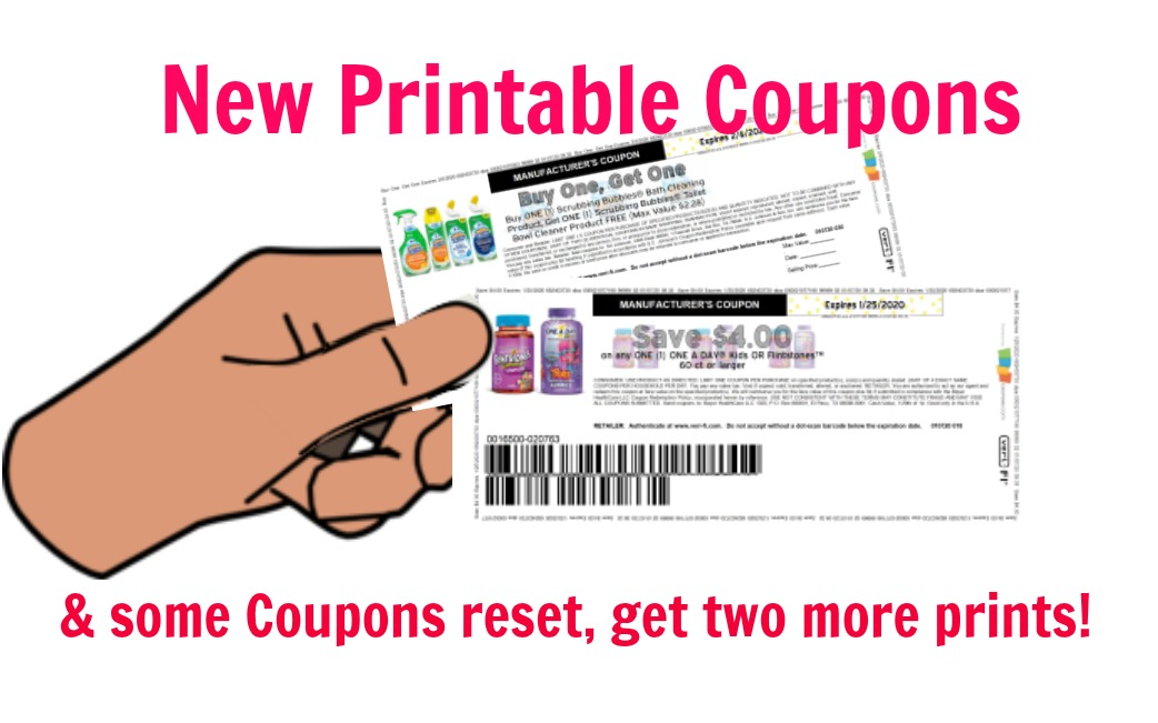 New Printable Coupons & Some Reset!