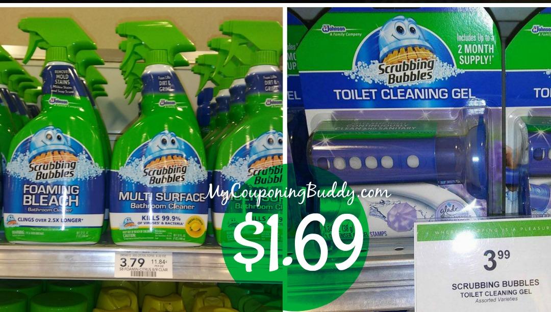 Scrubbing Bubbles Bathroom Cleaners $1.69 at Publix
