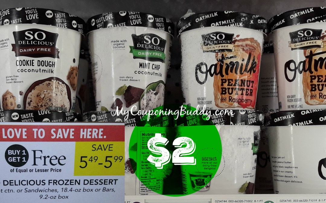 So Delicious Ice Cream $2 at Publix