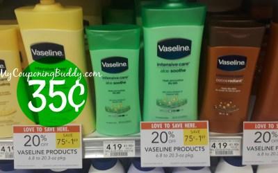 Vasline Lotion 35¢ at Publix