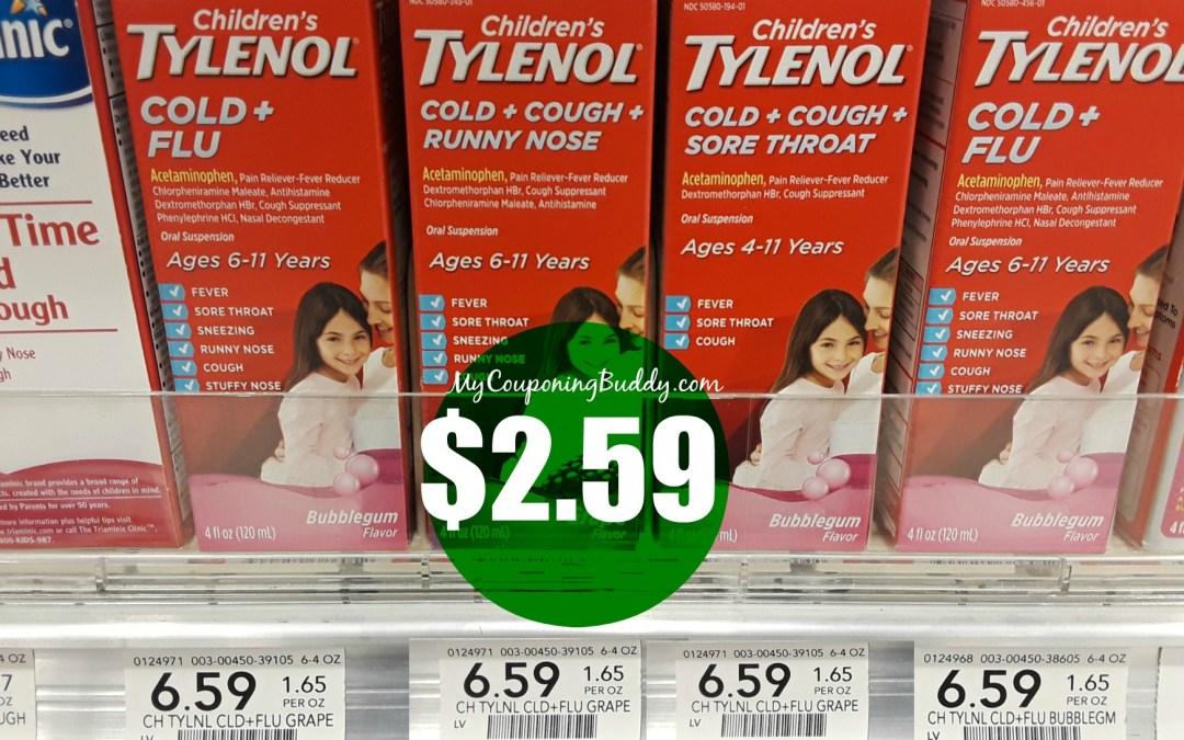 Children's Tylenol $2.59 at Publix