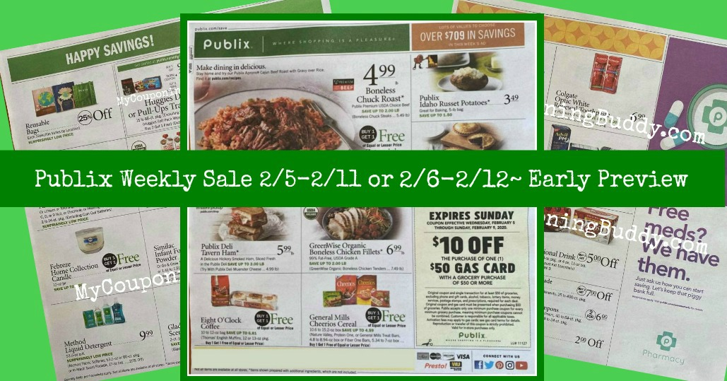 Publix Weekly Ad2/5-2/11 or 2/6-2/12~ Early Ad Preview