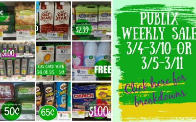 Best Deals of the Publix Weekly Sale 3/4-3/10 or 3/5-3/11