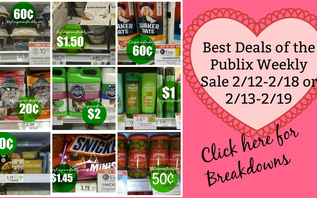 Best Deals Publix Weekly Sale 2/12-2/18 or 2/13-2/19