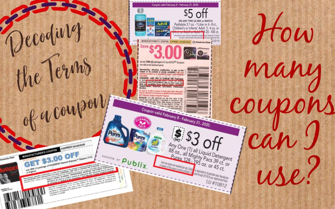 Reading Coupon Terms or Fine Print