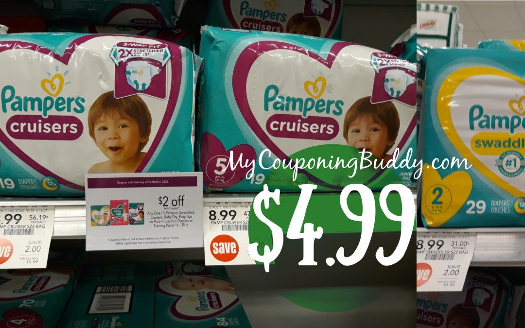 Pampers Diapers Couponing Deal at Publix