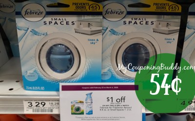 Febreze Small Spaces  54¢ at Publix