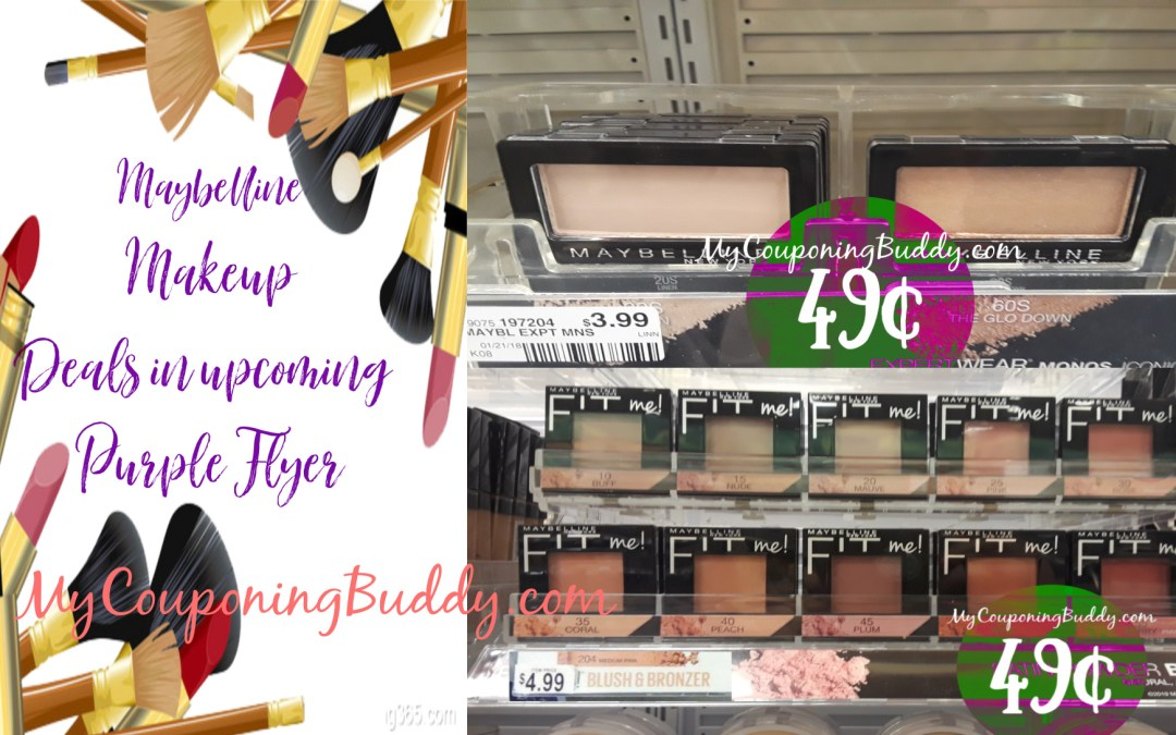 Maybelline MakeUp Deals in the Upcoming Purple Flyer 3/7/20 - 3/20/20