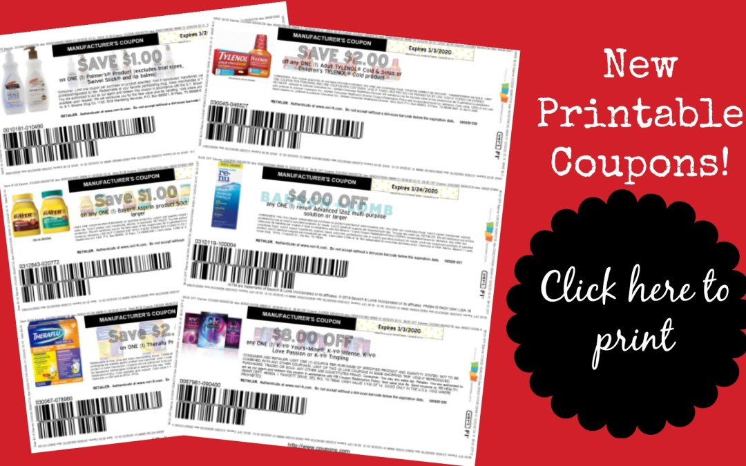 New Printable Coupons Arm Hammer Nivea Tylenol My Publix Coupon Buddy