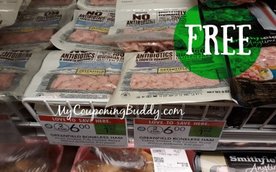 FREE Diced/Cubed Greenfield Ham Steak at Publix
