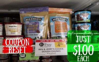 Ben & Jerry's Cookie Dough Bites $1 a bag!!! at Publix