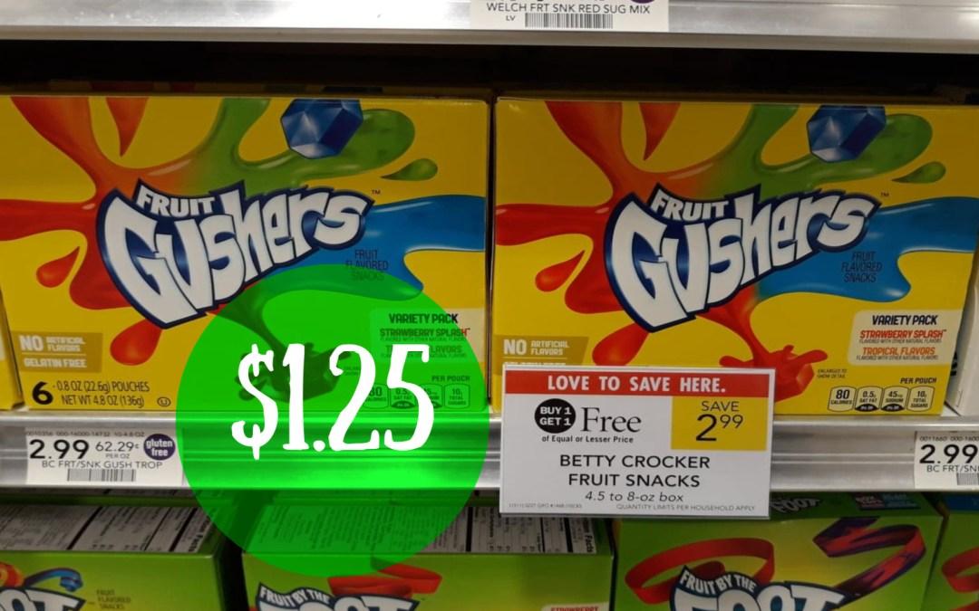 Betty Crocker Fruit Snacks Publix