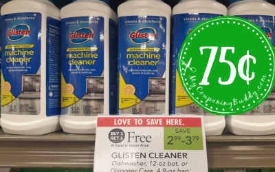 Glisten Garbage Disposal Cleaner 75¢ at Publix