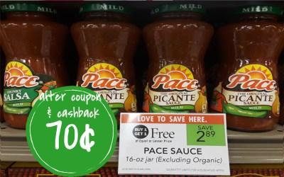 Pace Salsa  70¢ a jar at Publix (after coupon & cashback)
