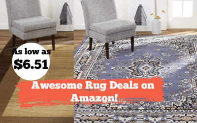Area Rug Deals on Amazon! As low as $6.51!