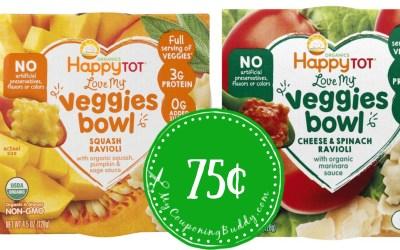 Happy Baby Love My Veggies Bowls 75¢  at Publix