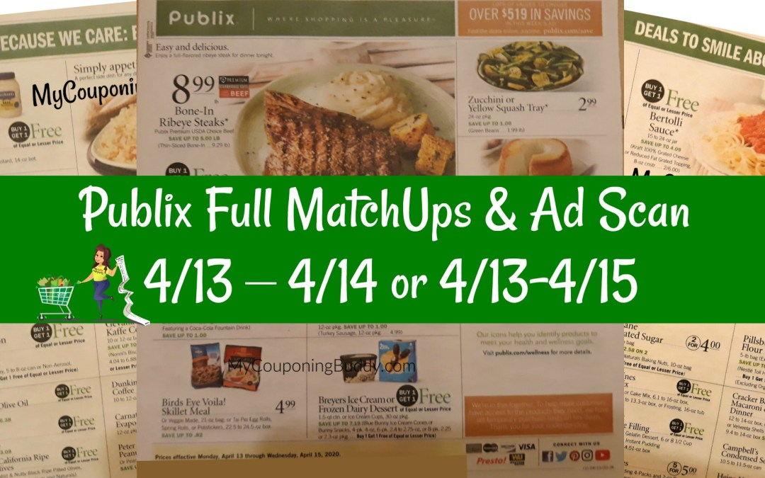 Publix Full Match Ups Ad Preview 3 Day Sale 4 13 4 14 Or 4 13