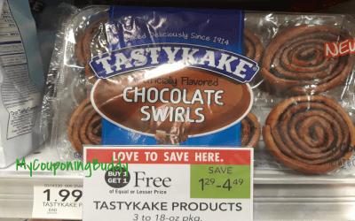 TastyKake Chocolate Swirls as low as FREE at Publix