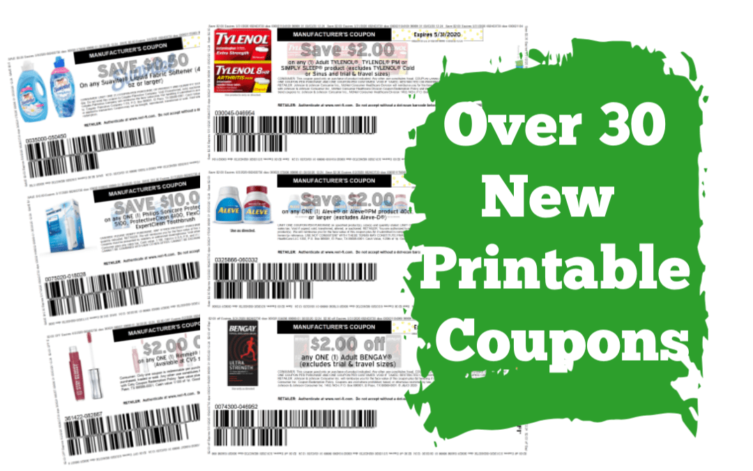 Over 30 New Printable Coupons!