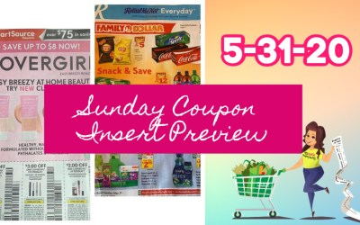 Sunday Coupon Insert Preview 5/31/20