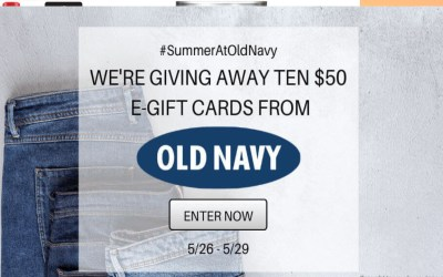 Old Navy Summer Gift Card Giveaway!