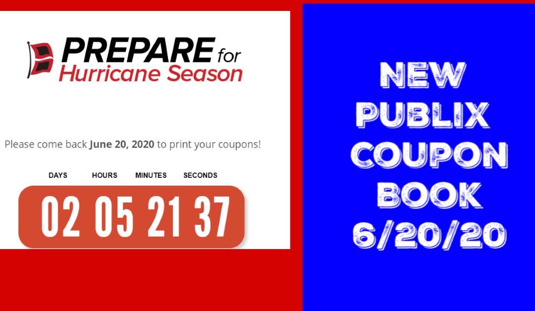 Publix Hurricane Coupon Book begins 6/20/20
