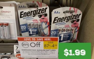 Energizer Batteries as low as $1.99 at Publix