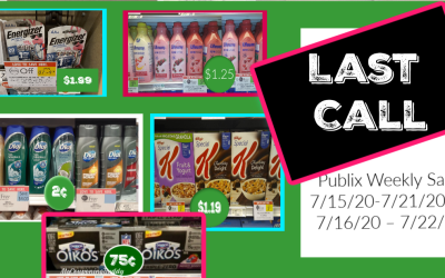 Last Call of the Publix Weekly Sale 7/15/20-7/21/20 or 7/16/20 – 7/22/20