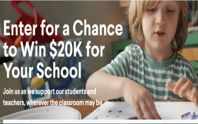 Clorox's Stand with Teachers Sweepstakes to win $5,000 cash for you and $20,000 for your local school!