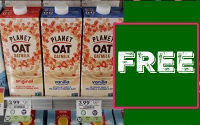 Planet Oat Milk FREE at Publix