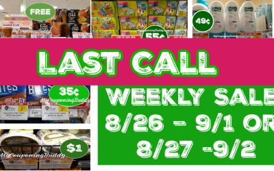 Best Deals of the Publix Weekly Sale 8/26 – 9/1 or 8/27 -9/2