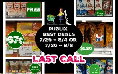 Last Call: Publix Best Deals Weekly Sale  7/29 – 8/4 or 7/30 – 8/5