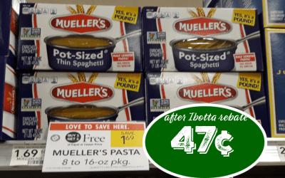 Mueller's Pasta 47¢ at Publix after BOGO Sale & Ibotta