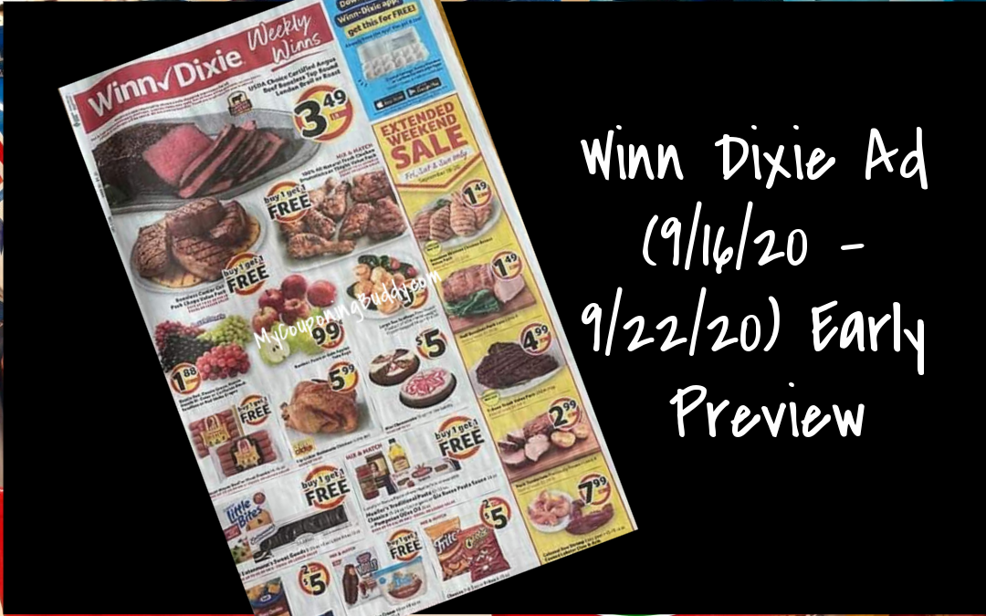 Winn Dixie Ad (9/16/20 – 9/22/20) Early Preview