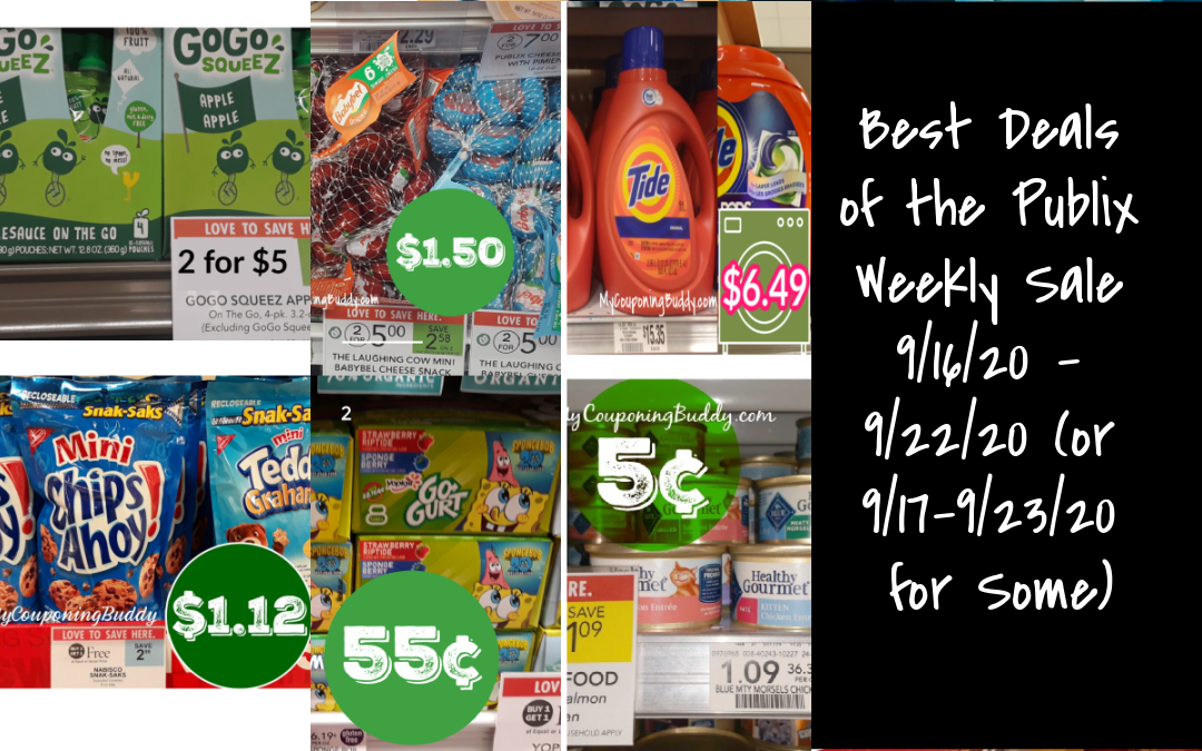 Best Deals of the Publix Weekly Sale 9/16/20 – 9/22/20 (or 9/17-9/23/20 for Some)