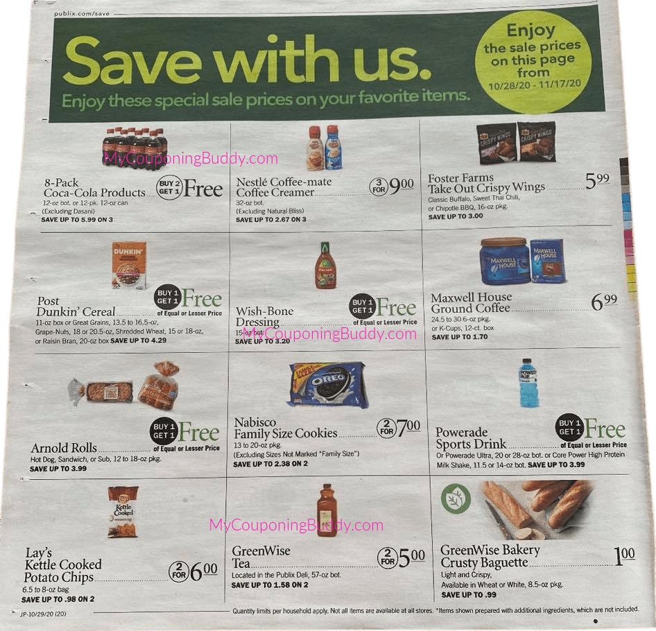 Early Ad Preview Ad Sneak Peek Publix Weekly Sale 10/28/20 - 11/3/20 - 10/29/20 - 11/4/20
