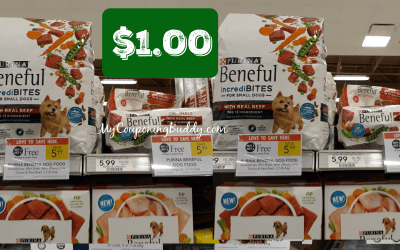 Purina Beneful $1 a bag at Publix