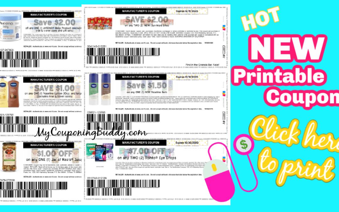 HOTnew printable coupons Vaseline Item