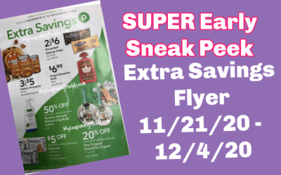 Early Preview Publix Extra Savings Flyer 11/21/20 – 12/4/20
