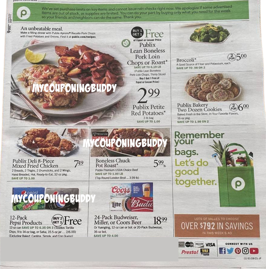 Publix Weekly Ad Preview 1/27/21 - 2/2/21 or 1/28 - 2/3/21