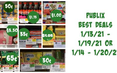 Publix Best Deals 1/13/21 – 1/19/21 OR 1/14 – 1/20/21