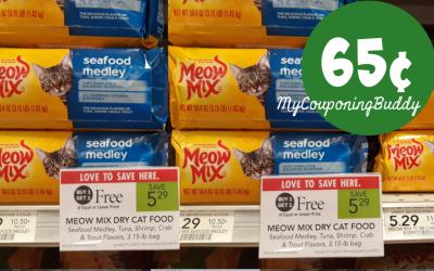 Meow Mix Cat Food 65¢ at Publix